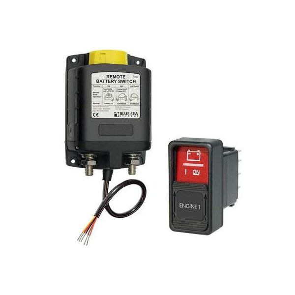 Coupe-batterie relais bistable 24V 500A + switch Comptoir Nautique