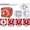 Coupe circuit, selecteur et coupleur de batteries 4 positions 2 entrées -  300A