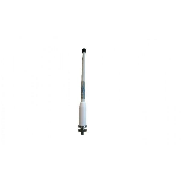 Antenne AM/FM souple 25cm avec câble fixation à plat pont Comptoir Nautique