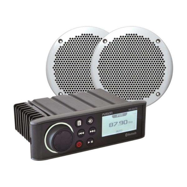 Pack Autoradio RA70 + HP 80W Comptoir Nautique