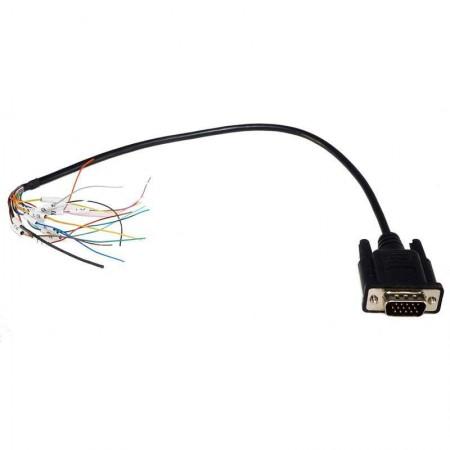 Câble entrée/sortie NMEA 15 broches