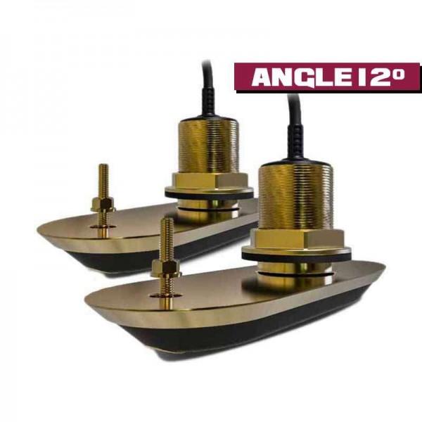 Double sonde RealVision 3D CHIRP Traversante Bronze Comptoir Nautique