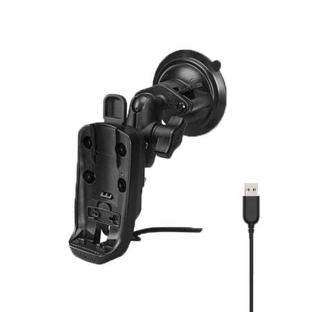 Support à ventouse pour GPSMAP 66i avec alimentation USB