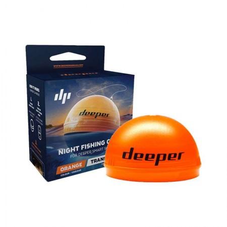 Couvercle orange pour Deeper pour pêche de nuit