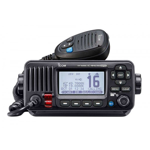 VHF IC-M423GE GPS Noire Comptoir Nautique