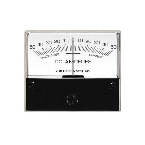 Ampèremètre analogique courant continu 0-50A, Shunt externe Comptoir Nautique