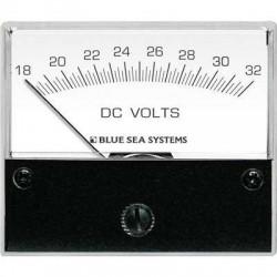 Voltmètre analogique 18 à 32 Volts pour courant continu