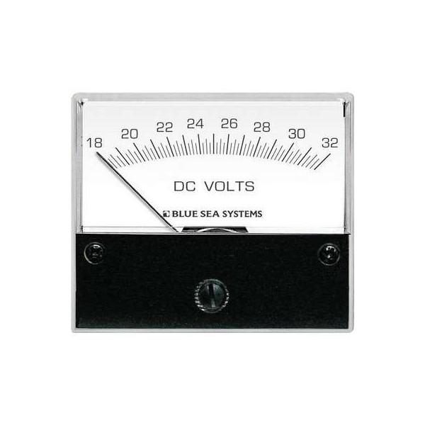 Voltmètre analogique 18 à 32 Volts pour courant continu Comptoir Nautique