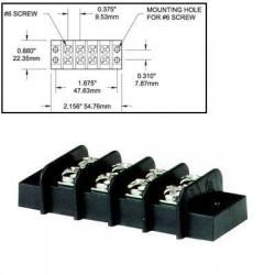 Bloc de jonction 4 circuits 20A