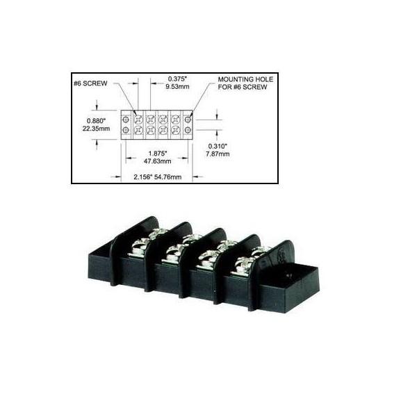 Bloc de jonction 4 circuits 20A Comptoir Nautique