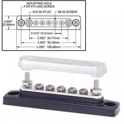 Bornier de connexion Mini Bus 7 plots 100A + couvercle
